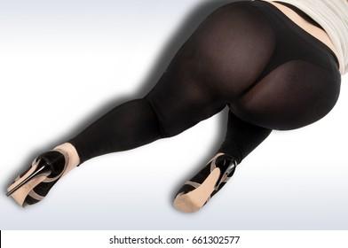 Portrait of a full ass woman, body parts ass bbw