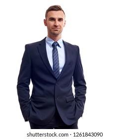 portrait in full growth. confident businessman.