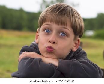 portrait of a funny boy