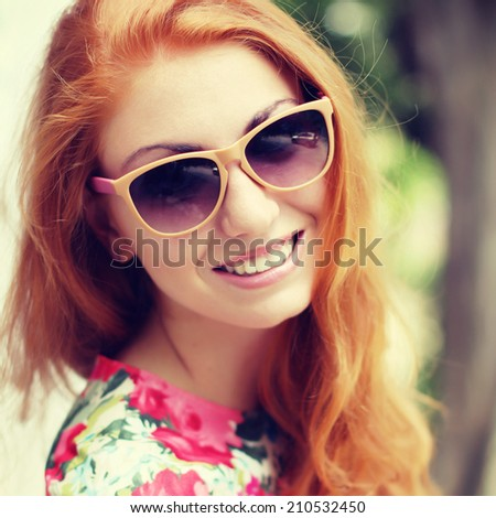 Final, sorry, redhead girl with glasses think