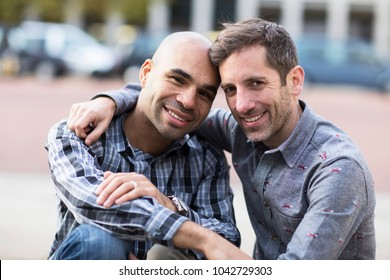 portrait of a gay couple
