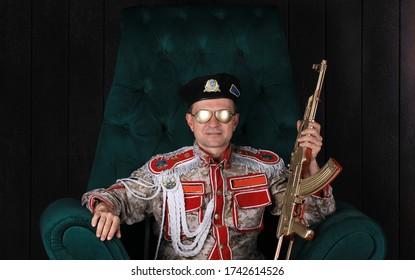 portrait of a general dictator, commander