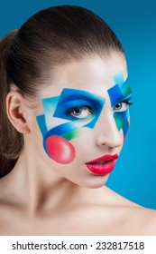 portrait of a girl with creative make-up
