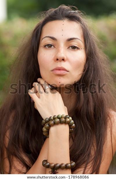 Portrait of a girl - hippie