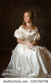 Portrait of a girl in a historical costume