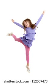 portrait of the girl in a jump