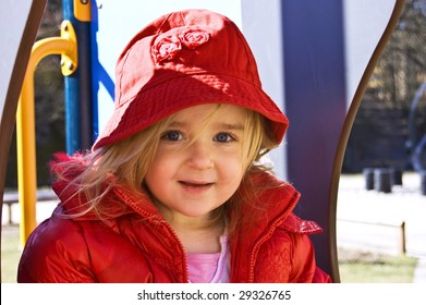 Portrait of a girl on playground