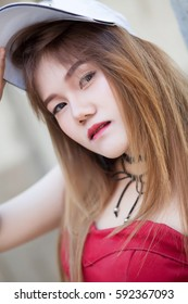 Portrait of girl in park