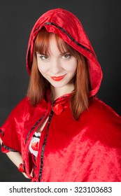 portrait of a girl in a red hood