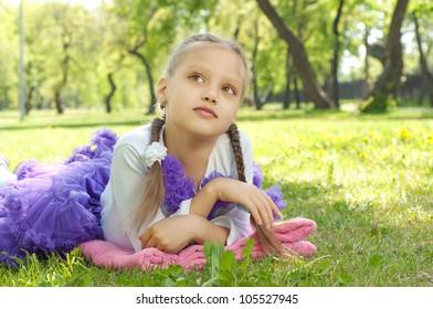 portrait of a girl in a summer park, great to spend time