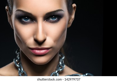 Portrait of glamor girl with make-up