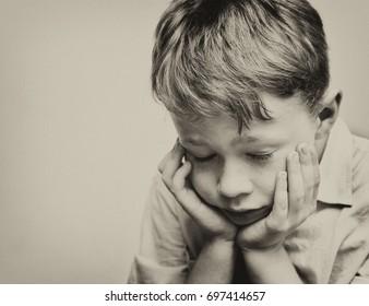 Portrait of a Glum Boy