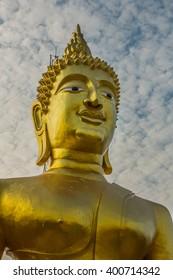 Portrait of a Golden statue Thailand Asia Travel