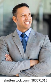 portrait of good looking mature business executive