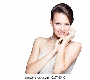 Portrait  of gorgeous woman as a bride