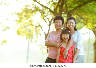 Portrait of grandmother, mother and grandchild