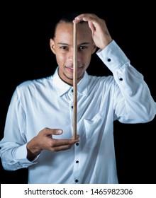 portrait of great latin american percussionist