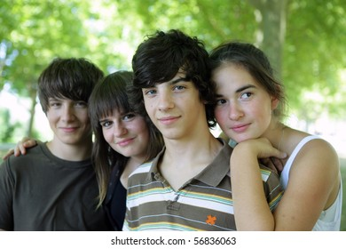 Portrait of a group of teenagers