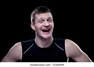 Portrait of a guy with funny faces