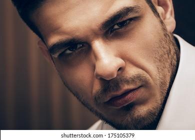 portrait of handsome adult man