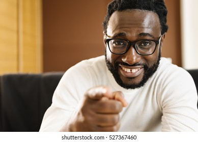 Portrait of Handsome african man smiling. Attitude concept.