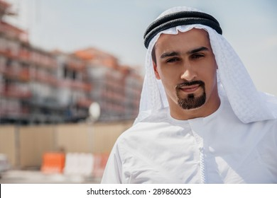 Portrait Of Handsome Arabian Businessman