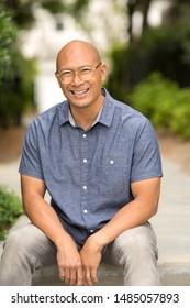 Portrait of a handsome Asian man.