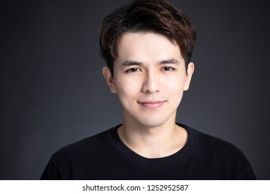 Portrait of handsome asian young man