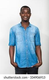 Portrait of handsome black African American man