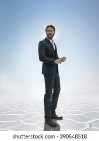 Portrait of a handsome business man