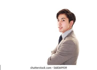 Portrait eines gut aussehenden Geschäftsmanns