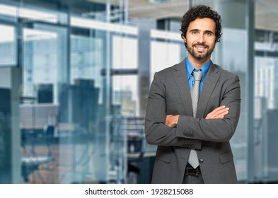 Portrait of a handsome businessman in his office