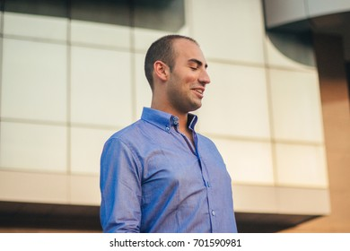 Portrait of a handsome casual man smiling