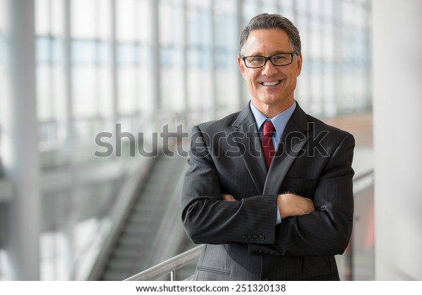 Portrait of a handsome CEO smiling