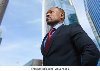 Portrait of an handsome confident businessman