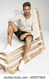 Portrait of handsome fashion male model