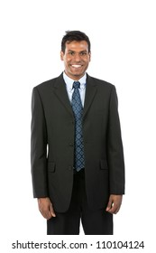 Portrait of a handsome Indian Business man. Isolated on a white background.