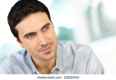 Royalty Free Dark Hair Blue Eyes Man Stock Images Photos Vectors