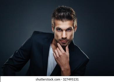 Imágenes, fotos de stock y vectores sobre Men Hair Black