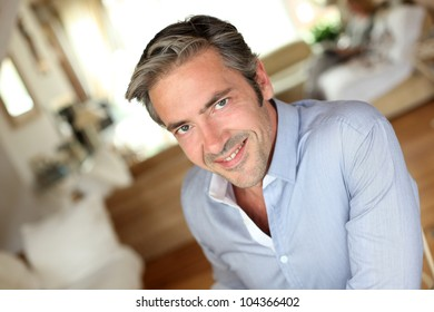 Portrait of handsome middle-aged guy