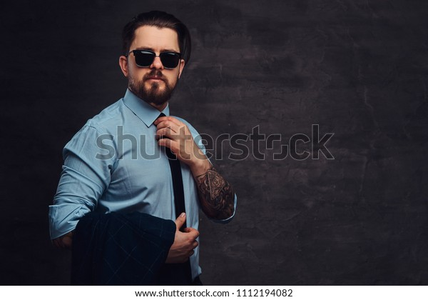 Portrait Handsome Middleaged Man Beard Hairstyle Stock Photo Edit Now 1112194082