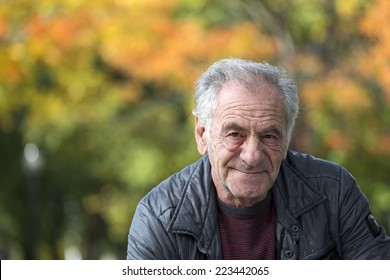 portrait of an handsome old italian man