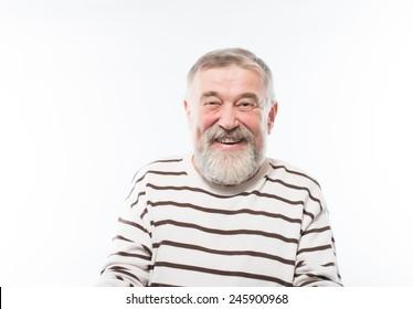 Portrait of a handsome older man