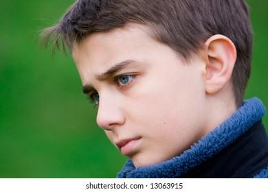 Portrait of a handsome retrospective teenager