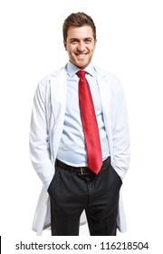 Portrait of an handsome scientist