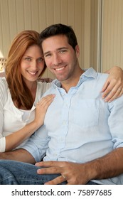 Portrait of handsome smiling couple