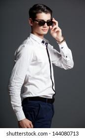 Portrait of a handsome stylish man