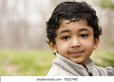 Portrait of a Handsome Toddler