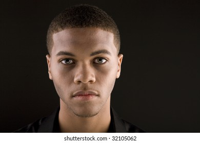 Portrait of a handsome young black man