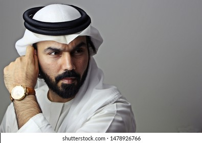 Portrait Of A Handsome Young Confident Arab Businessman  ( Handsome Attractive Model )